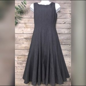 Calvin Klein | charcoal grey fit & flare dress